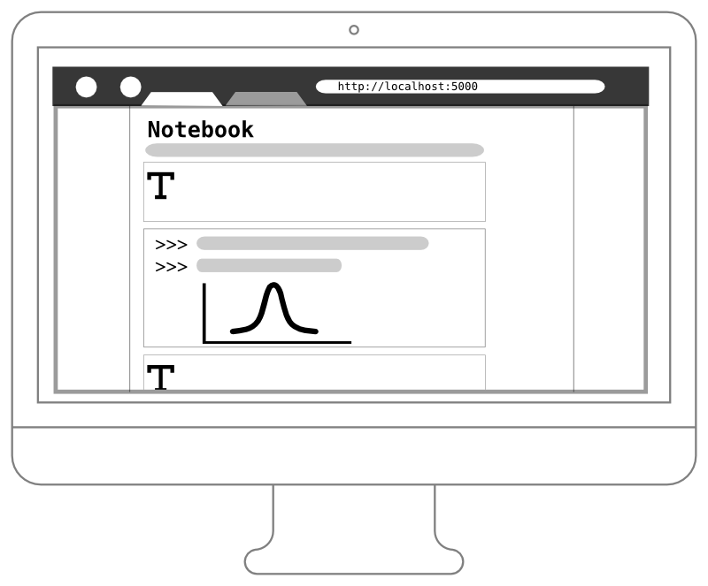 Web-based Notebook with cells
