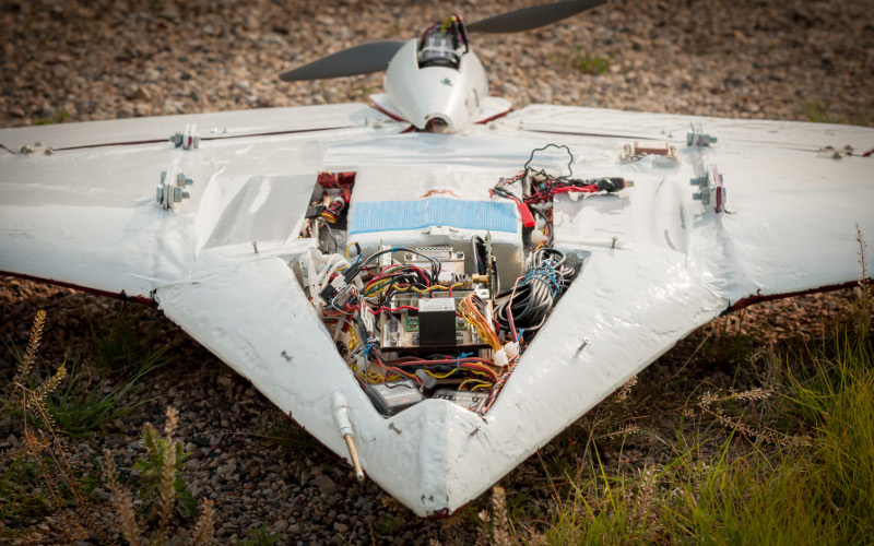 Prototype UAV with electronics developed at University of Minnesota
