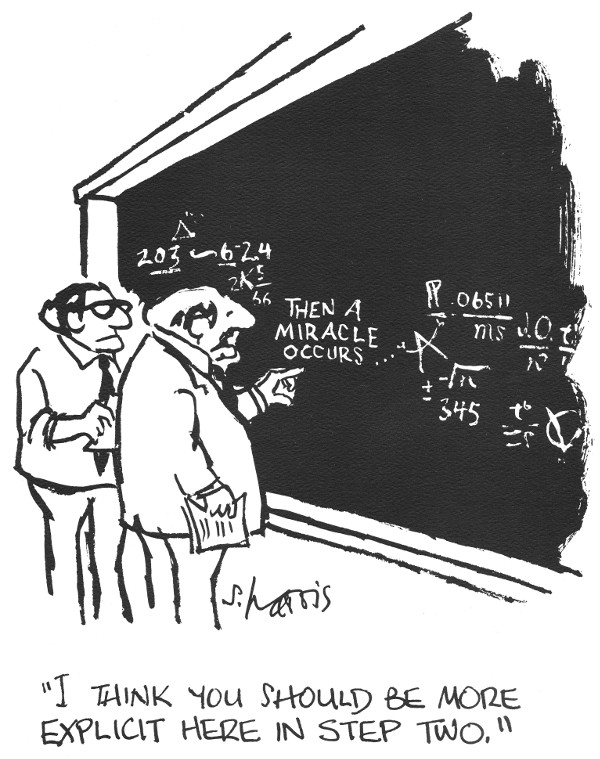 S. Harris Cartoon: and then a miracle occurs