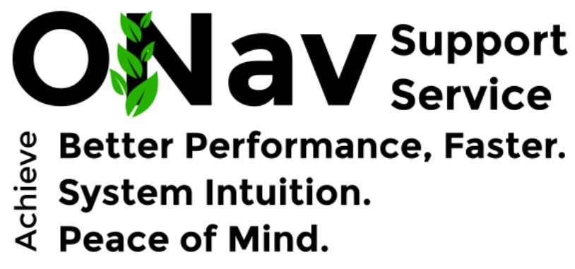 ONav Support Service logo details